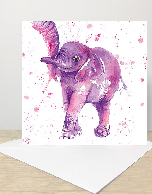 Purple Nelly Greeting Card