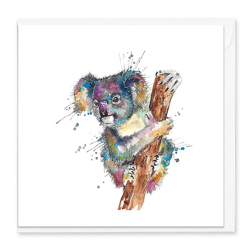 Splatter Koala Greeting Card