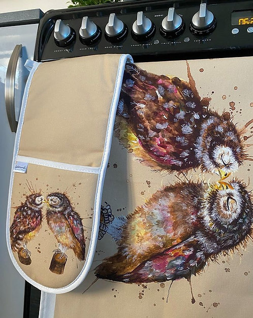 Loved Up Owls Oven Glove