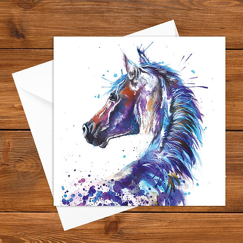 Splatter Horse Greeting Card