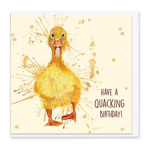 Birthday Duckling Greeting Card