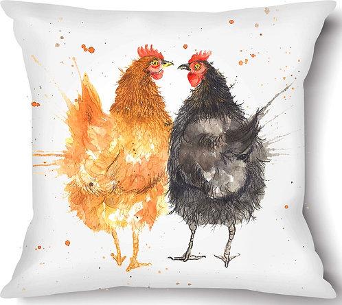 Love Chickens Vegan Suede Cushion