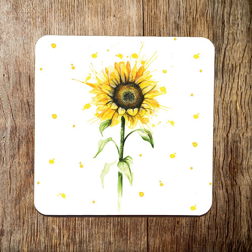 Splatter Sunflower Coaster
