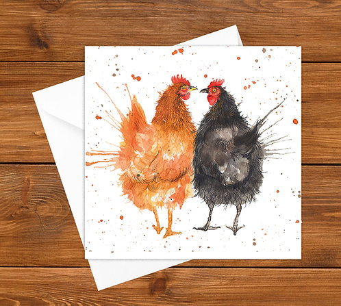 Love Chicken's Greeting Card