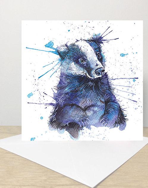 Splatter Badger Card