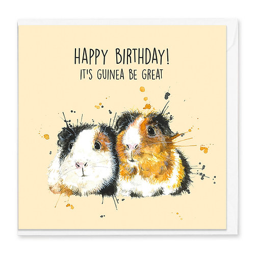 Birthday Guinea Pig Greeting Card
