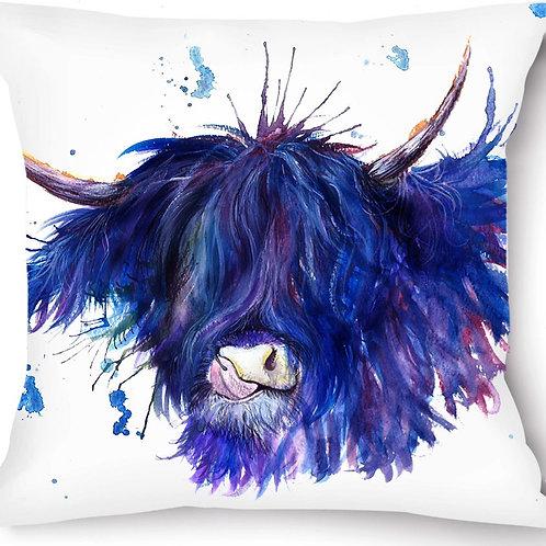 Highland Coo Vegan Suede Cushion