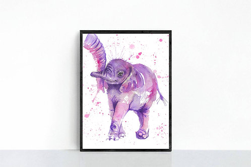 Purple Nelly Print