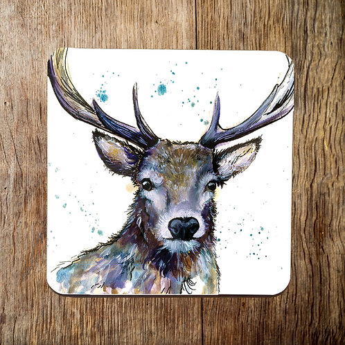 Purple Stag Coaster