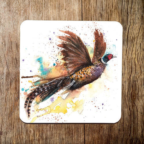 Fly Away Pheasant Coaster