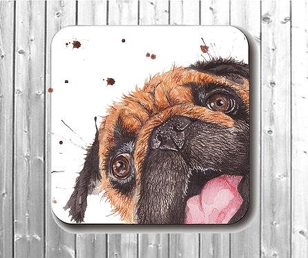 Small Pugchops Coaster