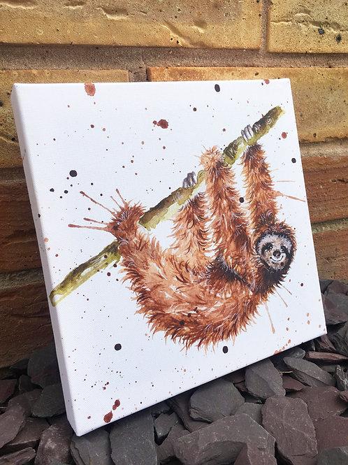 Just Hanging Sloth Mini Canvas