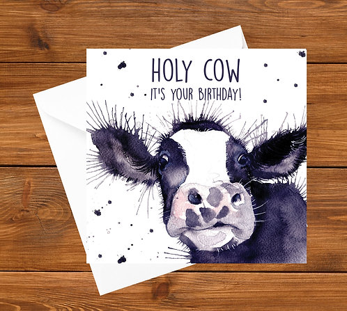 Holy Cow Greeting Card