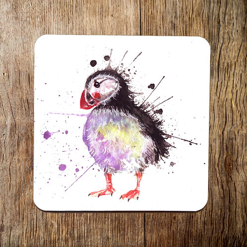 Splatter Puffin Coaster