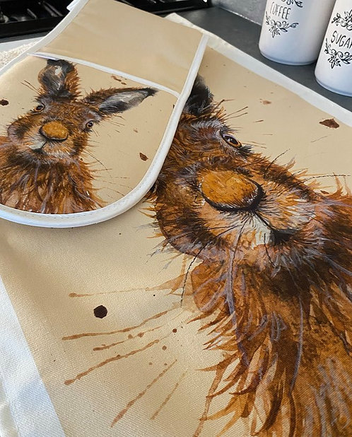 Wild Hare Tea Towel