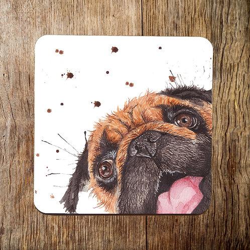 Pugchops Coaster
