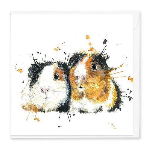 Splatter Guinea Pig Greeting Card