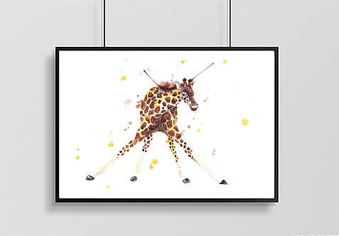 Larry Long Legs Giraffe Print