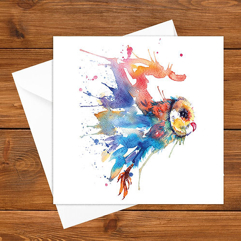 Coloured Swoop Greeting Card