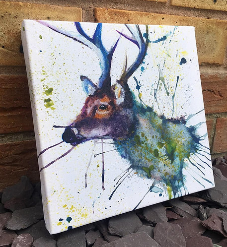 Splatter Stag Mini Canvas