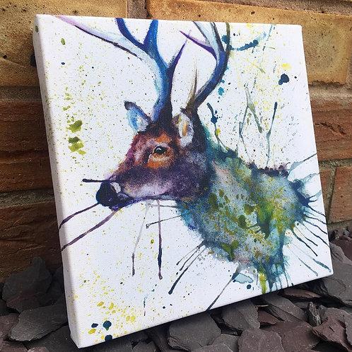 Splatter Stag Mini Canvas