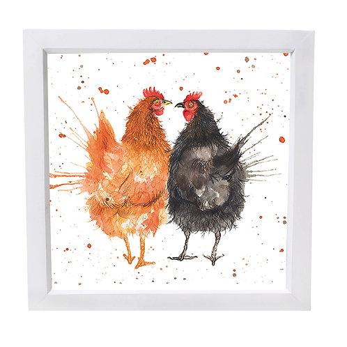 Love Chickens Framed Mini Print