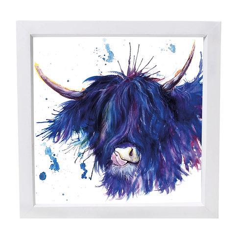 Highland Coo Framed Mini Print