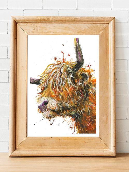 Homer the Highland Cow Print