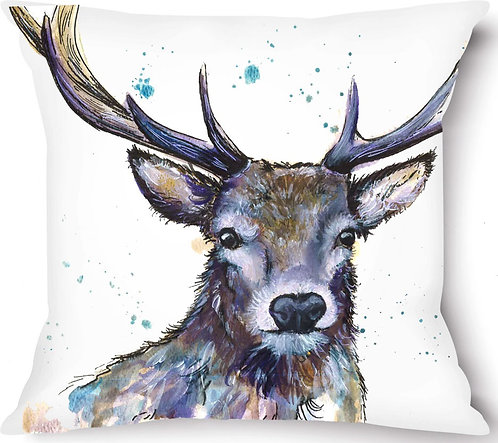 Stag_02 Vegan Suede Cushion