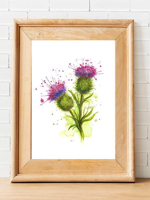 Splatter Thistle Print
