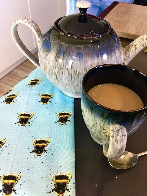 Splatter Bee Pattern Tea Towel