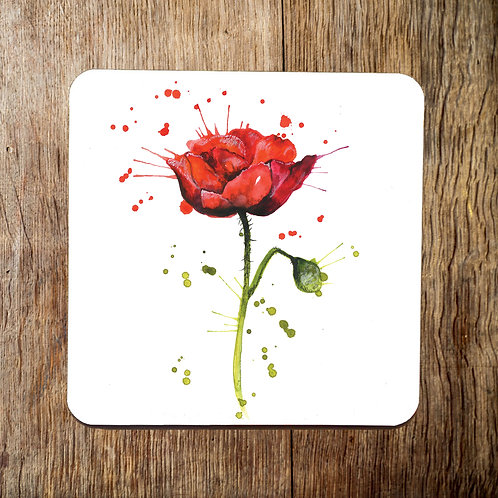 Splatter Rose Coaster