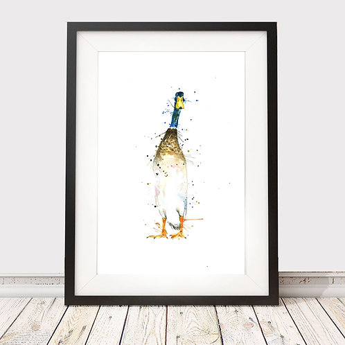 Original Watercolour Painting 'Dave the duck'