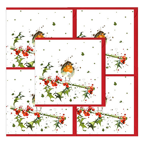 Winter Robin Christmas Cards (5 pack)