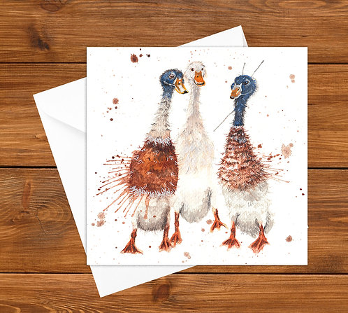 Gossip Time Greeting Card