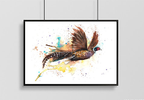 Fly Away Pheasant Print