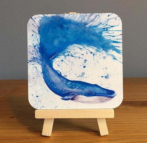 'Splatter Whale' Coaster