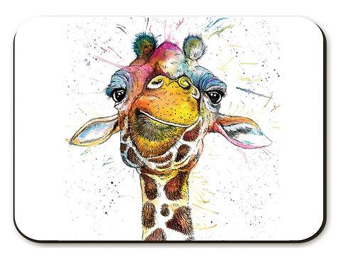 Rainbow Giraffe Placemat