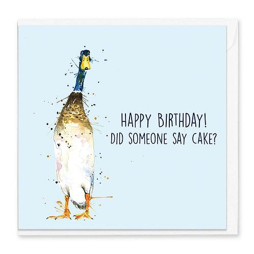 Birthday Duck Greeting Card