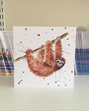 Splatterworks sloth greeting card