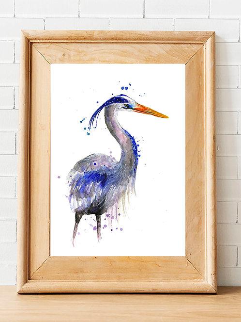 Splatter Heron Print