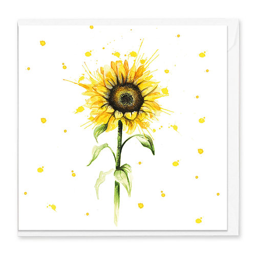 Splatter Sunflower Greeting Card