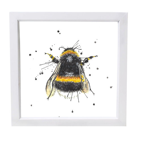 Splatter Bee Framed Mini Print