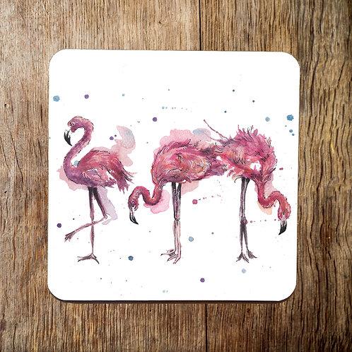 Be Fabulous Flamingoes Coaster