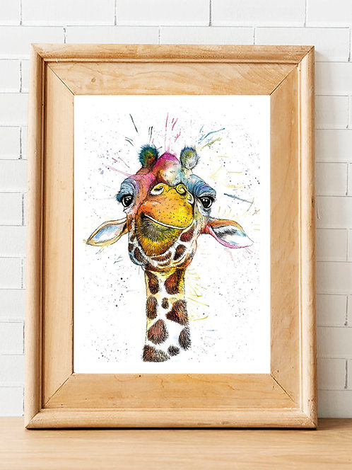 Rainbow Giraffe Print