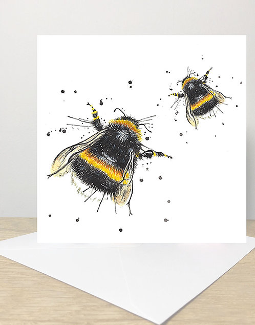 Splatter Honey Bee's Greeting Card