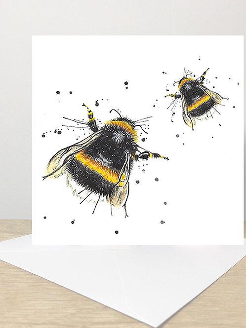 Splatter Honey Bee's Greeting Card