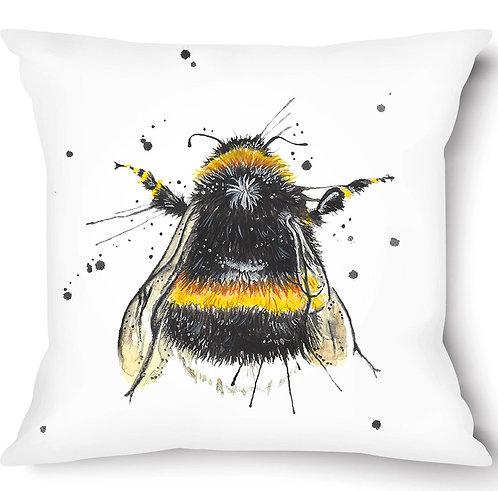 Splatter Bee Vegan Suede Cushion