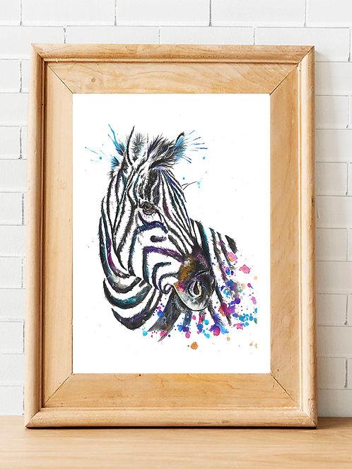 Splatter Zebra Print