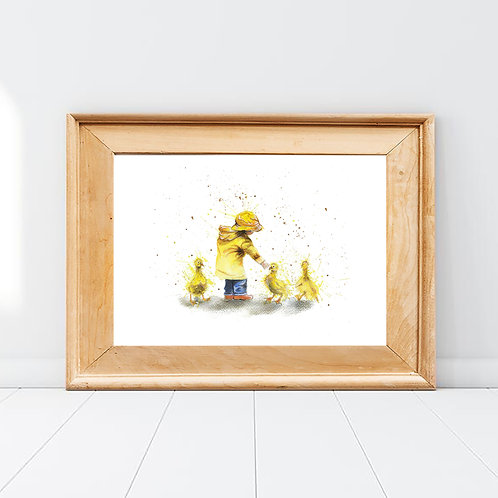 The Boy in the Yellow Coat Print